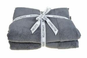 Allure Spa Luxury Charcoal Grey Bath Sheet Towel Bales Pack of 2 - New