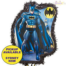 BATMAN PARTY SUPPLIES PULL STRING PINATA PINYATA BIRTHDAY SUPERHERO GAME