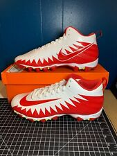 NIKE Mens Alpha Menace Shark Football Cleats NEW IN BOX Red White Size 12.5