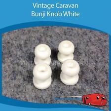 Caravan Camper BUNJI KNOB WHITE x 4  Vintage,Viscount, Franklin ,Millard, York