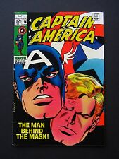 Captain America #114 VF/NM 1969 High Grade Marvel Comic Silver Age