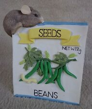 Vintage Charming Tails Mackenzie on Beans Seed Packet 1995 ~ Free Shipping