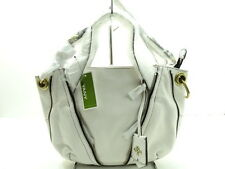 NWT orYANY Pebble Leather Lian Satchel, White, Gold Tone Hardware