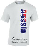 Men's Aussie shirt 100% cotton Australia flag Australian pride day T-shirt cute