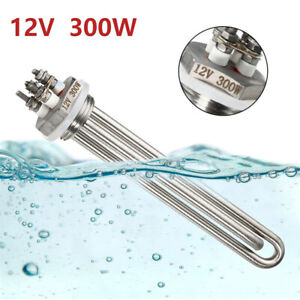 DC 12V 300W Suspension Immersion Water Submersible Heater Tube Heating Element