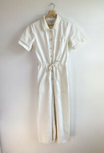 Madewell Wide Leg Crop Utility Coverall Jumpsuit Sz 2 Style G7789 short sleeve