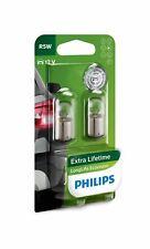 PHILIPS 12821LLECOB2 R5W LongLife EcoVision 12V 5W BA15s Car Indicators Bulbs x2
