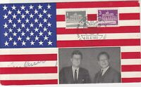 Berlin 1963 Meeting of Germany & USA Berlin Slogan Cancel Stamps Card Ref 26098