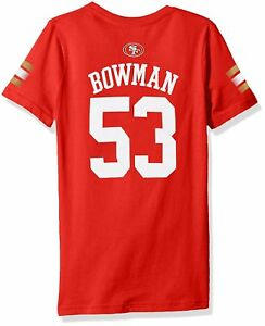 NFL Girls NaVorro Bowman San Francisco 49Ers Girls Main Stripes V-Neck M10-12