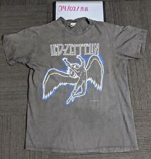 Vintage Led Zeppelin 1984 T-Shirt Single Stitch Hanes Tag Made in Usa