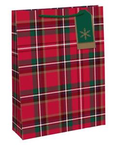 Tartan Extra Large Christmas Gift Bag