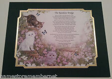 """""""The Rainbow Bridge"""" Personalized Pet Memorial Poem For Loss of a Beloved Cat"""