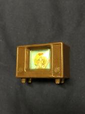 VTG Dollhouse Miniature Furniture Plastic Television TV Blonde Girl Mod Picture