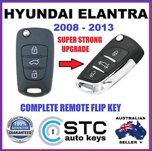 HYUNDAI ELANTRA  COMPLETE REMOTE CONTROL TRANSPONDER FLIP KEY FOB 2008 - 2013