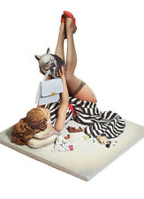 1/22 Scale 80 mm Poker Girl and cat models sexy figure Resin Model Kit