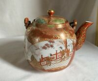Japanese Meiji Kutani teapot, signed inside the lid.1880's