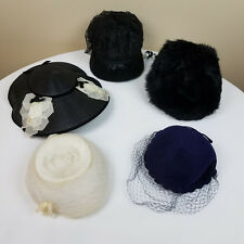 Vintage Antique Ladies Hats Lot of 5