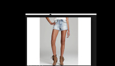 BLANK NYC High Rise Cut Off Denim Jean Shorts Studded Distressed Size 26 8