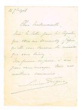 LE BARYTON LUCIEN FUGERE VA RECOMMANDER UNE ACTRICE A COQUELIN EN 1908