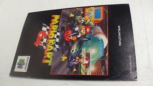 Spielanleitung  von Mario Kart -  Nintendo 64 N64