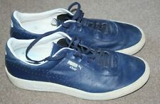MENS PUMA STAR NAVY BLUE LEATHER TRAINERS UK 9