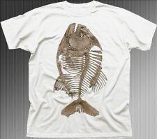 Piranha Fish Skeleton Bone angler white t-shirt OZ9624