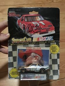 Bobby Allison (SIGNED) #12 1991 1:64 Diecast Car, Collectors Card, Display Stand