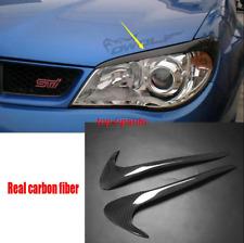 Real Carbon fiber Headlight Lamp Eyebrows Trim 2pcs For 2006-2019 Subaru Impreza
