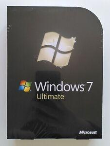 MS Windows 7 Ultimate  32 64 Bit DVD Retail Vollversion Deutsch GLC-00205 NEU