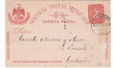 Mexico,Postcard,1895,Scott#243,2c,Lagos de Moreno-Parras,Stationary,1899