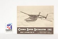 CESSNA Aircraft & Accessories PRICE LIST 1965 Vintage Lithograph USA Gift