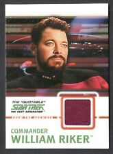 STAR TREK THE QUOTABLE NEXT GENERATION 2005 COSTUME CARD #C3 RIKER (Red)