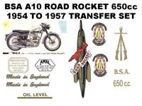 BSA A10 Road Rocket 1954 to 1957 Full Restoration Transfers Set Decals Sticker