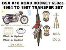 BSA A10 Road Rocket 1954 to 1957 Full Restoration Transfers Set Decals Sticker