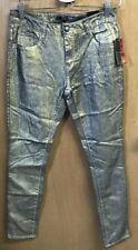 (#37) NWT Bongo Juniors Size 5 Gold Skinny Jeans New