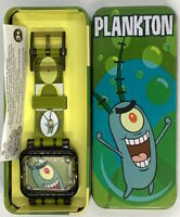 2004 Spongebob The Movie Have it Your Way Burger King Watch - Plankton Open Box