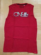 T-Shirt Achselshirt O'Neill Gr.188 (S-M) Baumwolle Rot mit Logodruck