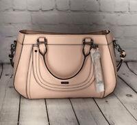 🥳*NWT* BRAHMIN *REALYNN BLOSSOM PINK GALVESTON SATCHEL BAG Genuine Leather $345
