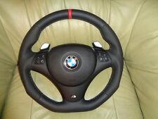 Tuning volante de cuero dsg bmw e90 e91 e92 e93 e81 e82 e87 abajo aplanada volante
