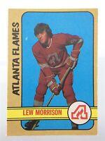1972-73 Lew Morrison Atlanta Flames 143 OPC O-Pee-Chee Hockey Card P181