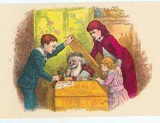 CHRISTMAS SANTA XMAS BOX TOM NAST REPRODUCTION ON POSTCARD (X-142)