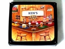 KEN/'S BAR NAME SET OF 6 CORK BACKED COASTERS