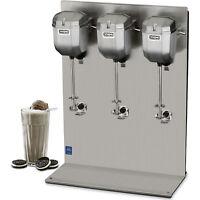 Waring Triple Spindle Drink Mixer - Commercial Malt Milkshake Mixing 2 Speed