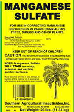 Manganese Sulfate 25 lb Correct/Prevent Deficiencies in Palms Plants Southern Ag