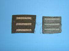 b1655-3 WW 2 US Army Overseas Bar Officer style 3 bars OD wool