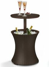 Bar Cooler Patio Table Espresso Brown Ice chest 00004000