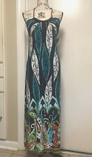 SOULMATES Sundress Maxi Summer Dress Sleeveless Brown Teal Small NWT
