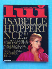 LUI n°215 Decembre 1985 -  Isabelle Huppert nue - Revue French charme