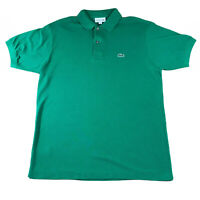Mens Lacoste Classic Fit Polo Shirt Top Green | Size 4 M Medium