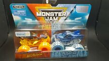 Monster Jam Fire & Ice True Metal Megalodon & Dragon Double Set New Sealed
